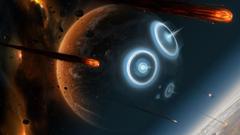 Battles science fiction meteor shower meteoroid skies wallpapers