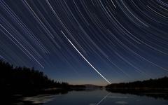 wallpapers Star night sky Star Tracks desktop