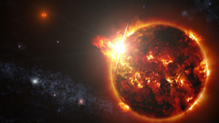 Solar flare storm sun space star fire psychedelic wallpapers