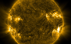 Space Fire Sun Storm Solar Star Space Psychedelic Flare Hd Nature
