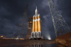 landscape Clouds Storm NASA Spaceship Rockets Orion USA