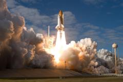 shuttle launch site Atlantis spaceship space rocket fire nasa