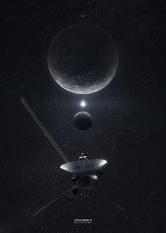 Voyager 3 space probe after 11 years in space is zipping through
