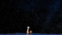 Calvin And Hobbes Space Stars Wallpapers HD Desktop and Mobile