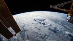 Sunlight Shines On The International Space Station 4K UltraHD