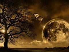 Field Tree Sepia Nature Dreamy Dream Moon Strawberry Fields