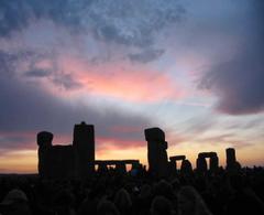 Stonehenge Summer Solstice Red Sky