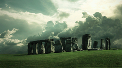 Stonehenge Tag wallpapers Sunrise Stonehenge Field Stones Nature