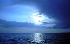 Oceans Reflection Solstice Clouds Summer Ocean Nature Blue Twilight