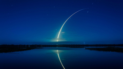 Wallpapers Falcon 9 rocket SpaceX Cape Canaveral 4K Space