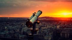 Paris sunset cityscapes france telescope wallpapers