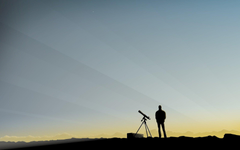 man sky telescope observations minimalism HD wallpapers