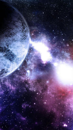Stellar Light Planet Android Wallpapers
