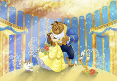 Disney Wallpapers mural for children s bedroom Beauty and the Beast
