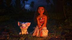 Princess Moana Waialiki And Cute Puppy Dog In Moana Wallpapers