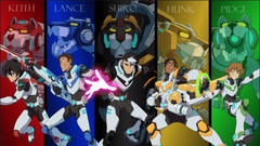 Keith Lance Shiro Hunk and Pidge the Paladins of Voltron from