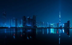 Dubai Cities United Arab Emirates Night HD Aesthetic Wallpapers