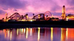 Santa Cruz Ferris Wheel Theme Park California HD Aesthetic