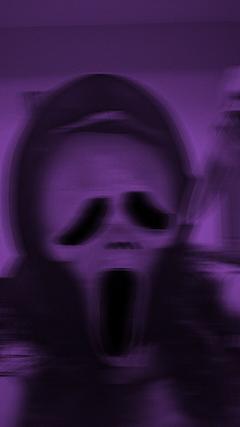 Ghostface aesthetic purple
