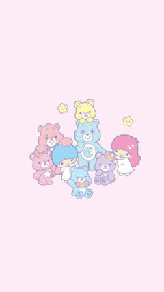 Little Twin Stars x Care Bears lockscreens