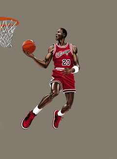 Michael Jordan Dunk by P