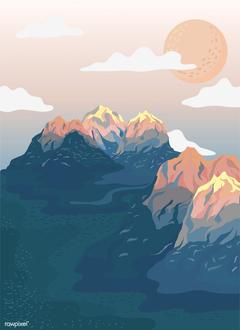 Painted mountain view landscape pinterest