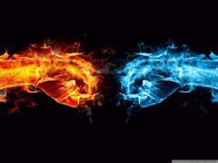 Fire Fist vs Water Fist 4K HD Desktop Wallpapers for 4K Ultra HD