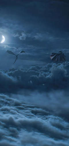 x2270 Dragons Above Cloud Game Of Throne Season 8 1080x2270