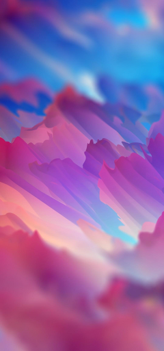 1080x2310 Colorful Clouds Blurry Painting Wallpapers for
