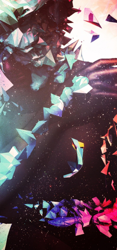 1080x2310 Shattered Man Abstraction Digital Art