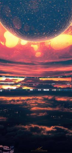 x2280 Heatwave Citylights Dark Heat Scifi Sky Space One Plus 6