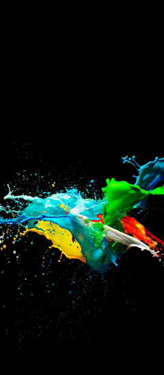 Colorful Painted Black Backgrounds