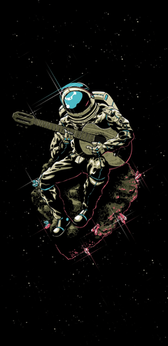 Astronaut playing the Guitar