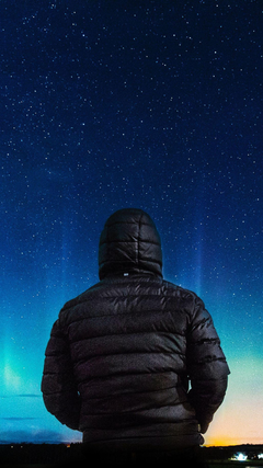 Alone Boy In Hoodie Looking Towards Colorful Sky G0 Wallpapers