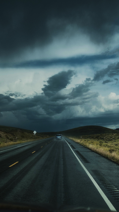 Road Clouds Auto Traffic Wallpapers