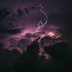 Storm Lightning 5K Apple iPad Air wallpapers