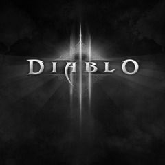 Diablo Name Black And White Apple iPad Air wallpapers