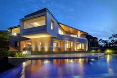Modern House With Pool Wallpapers