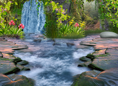 Fantasy Forest Stream HD Wallpapers