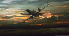 Star Wars The Force Awakens X Wing Wallpapers 4K