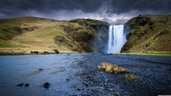 Skogafoss Waterfall Iceland 4K HD Desktop Wallpapers for 4K Ultra