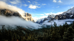 Wallpapers Tunnel View 5k 4k wallpaper 8k Yosemite CA Sunset