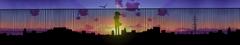 Wallpapers sunlight sunset city cityscape night anime