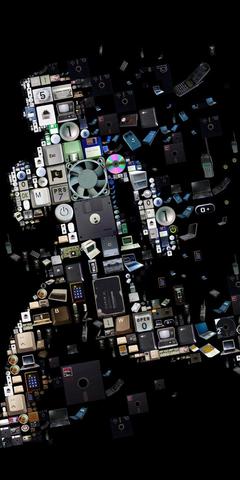 Run Pieces Disk Floppy Dist Black