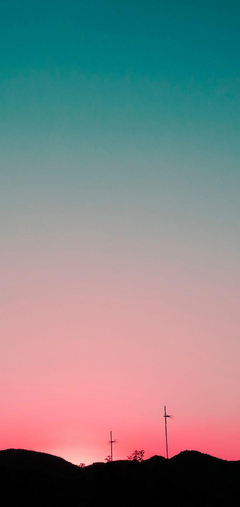 Sunset Sky Hills Wallpapers