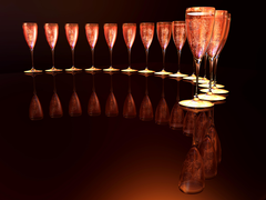Photos Sparkling wine Reflection Food Stemware 6400x4800