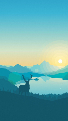 Sunrise Lake Art Work Wallpapers