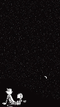 x1334 Wallpapers calvin and hobbes starry sky cartoon