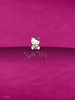 x1024 Maroon Hello Kitty Wallpapers