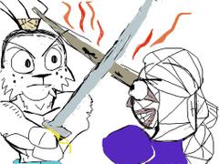 Usagi Miyamoto vs Makoto Shishio by Xenotoonz9f